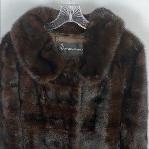 Vintage Gartenhaus Dark Brown Mink Fur Coat